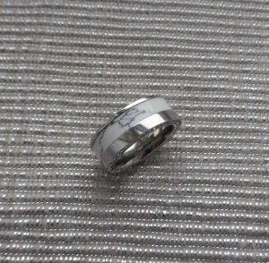 Ring zilver-wit Edelstaal