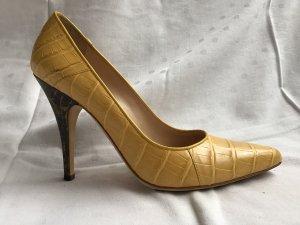 Escada High Heels black-yellow