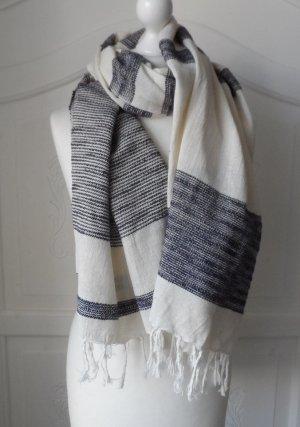 edler Esprit aus Baumwolle und Seide Offwhite Dunkelblau wenig getragen