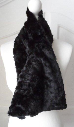 edler Esprit Fell Schal fake fur Schwarz wenige Male getragen