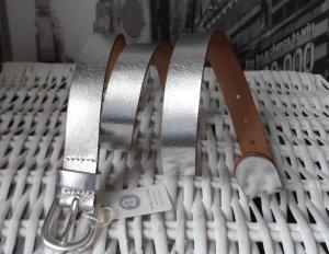 edler ESPRIT Leder Gürtel Gr. 100 Silber NEU m. Etikett