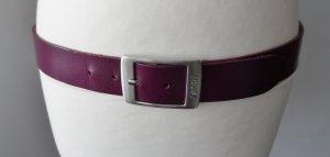 edler Esprit Leder Gürtel Gr. 90 Dunkellila wenig getragen
