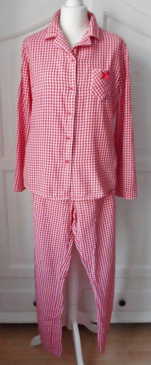 edler Esprit Schlafanzug Gr. 40 Rot weiß kariert leider nur 2 x getragen