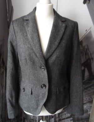edler ESPRIT Tweed Blazer aus Wolle, Viscose, Seide Gr.40 Anthrazit 2 x getragen