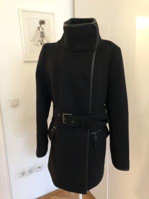 Edler Esprit Wollmantel - schwarz 36, wie neu, 1 mal getragen