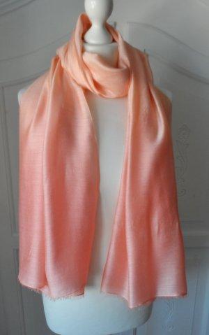 edler Esprit XL Schal mit Seide Apricot nur wenig getragen