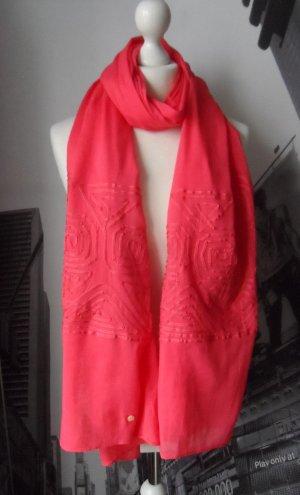 edler Esprit XXL Schal Rot aus Baumwolle wenig getragen
