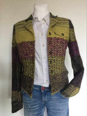 Etro Knitted Blazer dark yellow-brown violet wool