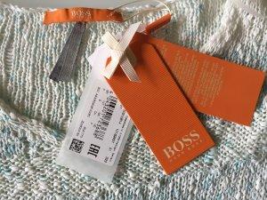Edler Feinstrickpulli Pullover mit V-Ausschnitt Boss Orange NEU
