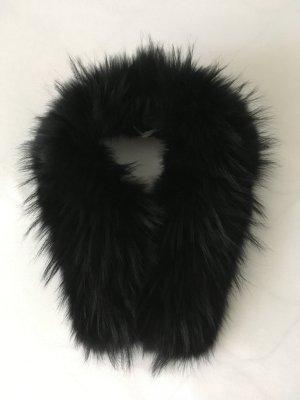Edler Fuchs Echtpelz Pelz Fell Kragen schwarz*nie getragen*