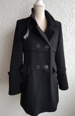 Edler gefütterter schwarzer Mantel von Fuchs Schmitt Gr. 36