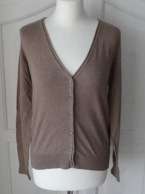 edler H&M Basic Cardigan Strickjacke Gr. S Hellbraun NEU m. Etikett