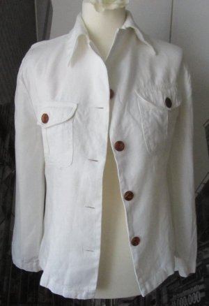 edler H&M Blazer aus Leinen Gr. 38 weiß wenig getragen