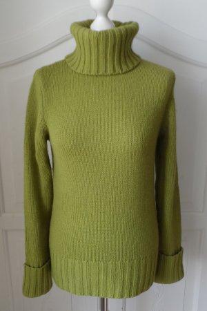 edler H&M L.O.G.G. Grobstrick Pullover Gr. S Grün aus Wolle