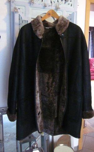 Christ Cappotto invernale marrone-nero Pelle