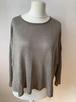 Edler Leinen Oversize Pullover Größe S