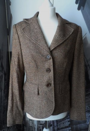 edler MADELEINE Tweed Blazer Wolle Seide Gr. 38 Braun sehr 2 x getragen NP 199 €