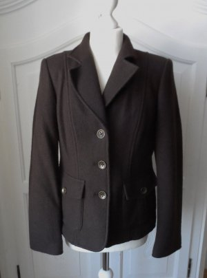 Madeleine Wool Blazer dark brown wool