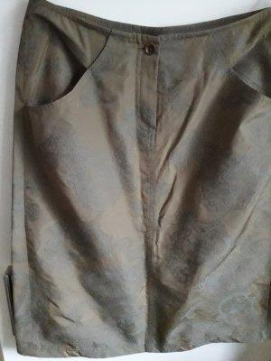 Marc Aurel Jupe crayon marron clair-gris tissu mixte