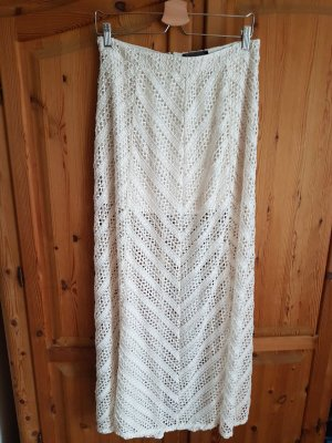 H&M Falda larga crema