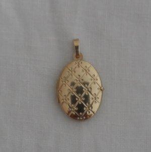 edler Medaillon Anhänger aus 333 Gold wenig getragen