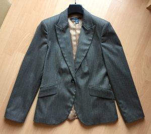 Edler Nadelstreifen-Blazer von Zara in grau-braun in Größe M