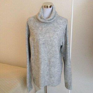 Edler Oversize Pullover H&M L.O.G.G. Alpaka Grau Blogger Herbst M Wolle