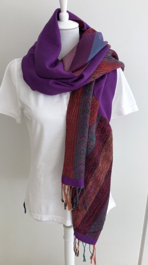 Pashmina donkerpaars-violet