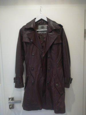 Pepe Jeans London Manteau en cuir bordeau cuir