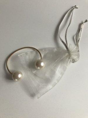 Edler Perlenarmreif in Gold (verstellbar)