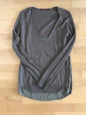 Edler Pullover mit Seiden-Unterhemd von Comptoir des Cotonniers in braun