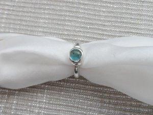 edler Ring Gr. 53 aus 925 Silber mit blauen Stein wenig getragen