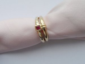 Gold Ring gold-colored-red real gold