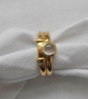 edler Ring Gr. 55 (17,5) aus 333 Gold mit einem Mondstein wenig getragen