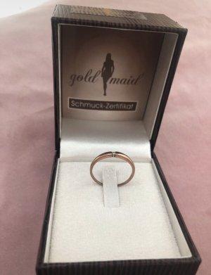 Gouden ring roségoud-goud