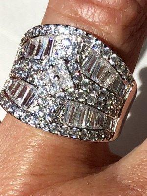 Anello di fidanzamento bianco-argento Argento
