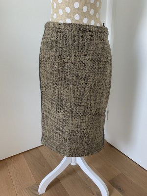 by Malene Birger Wollen rok antraciet-beige