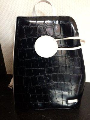 Bulaggi Mochila para portátiles blanco-negro Cuero