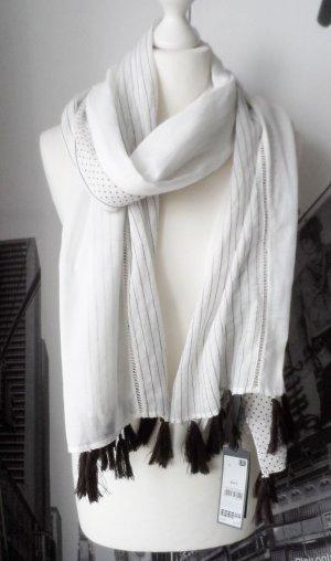 s.Oliver Chal veraniego blanco-marrón oscuro