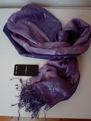 Edler Schal in Violett glänzend, Neu mit Etikett!