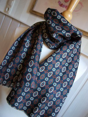 Cravate ascot multicolore