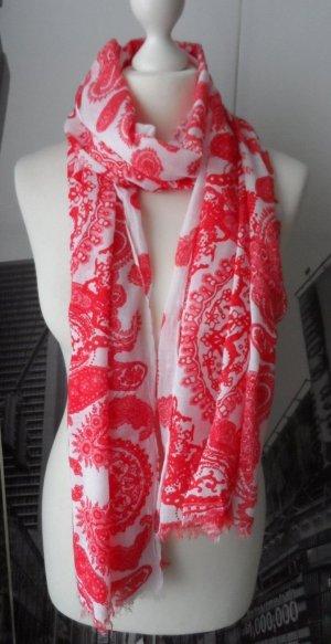 Sjaal rood-wit Katoen
