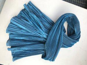 Edler Schal / Tuch in schillerndem Petrol / Blau / Türkis. Zum Abendkleid oder zur Jeans