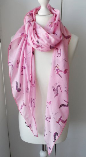 Fraas Silk Scarf pink mixture fibre
