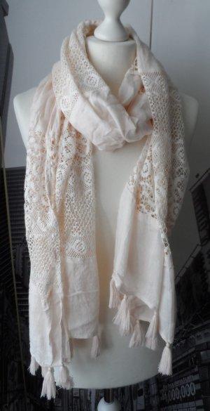 Sjaal licht beige Viscose