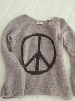 Edler Strickpulli mit Peacezeichen