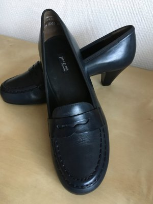Paul Green Loafers dark blue-blue leather