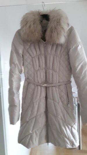 Milestone Abrigo de plumón beige claro-gris claro tejido mezclado