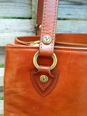 Shopper cognac cuir