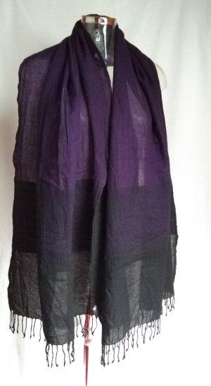 Closed Wollen sjaal zwart-donkerpaars Wol